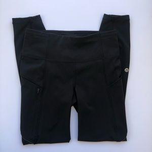 Lululemon leggings size 4 color solid black